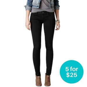 5/$25 American Eagle Outfitters Jeggings Black 4R